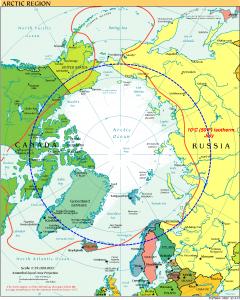 Var ligger den Norra polcirkeln?